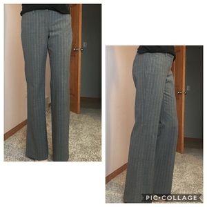 "Express ""Editor"" grey striped dress pant"